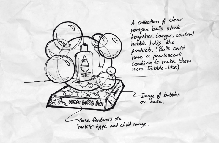 Johnson's Baby Bubble Bath design and marketing concepts