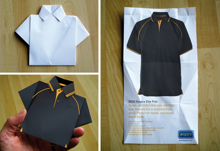 Origami Polo Shirt Lappindesign