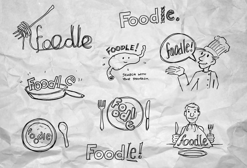"""""""Foodle"""" logo concepts"""